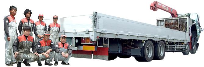 岩岡自動車の大型車整備